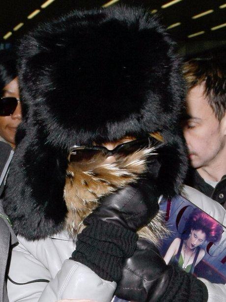 Rihanna Hiding