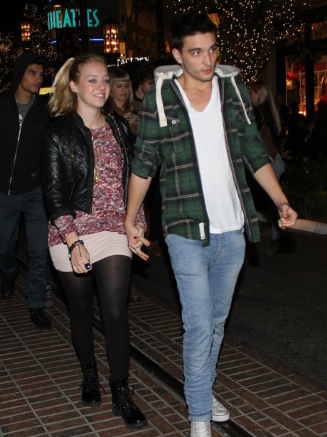 Tom Parker and Girlfriend out for dinner in Americ