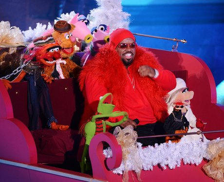 Cee Lo Green performs with the Muppet characters