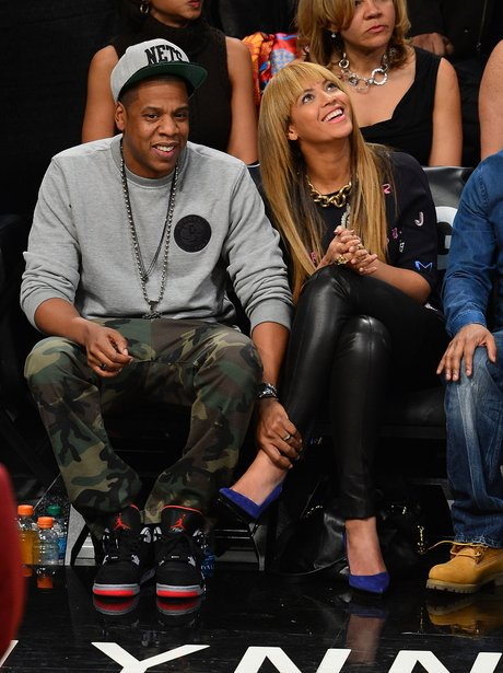 Jay Z and Beyonce attend Brooklyn Nets game