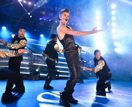 Justin Bieber performs in Canada