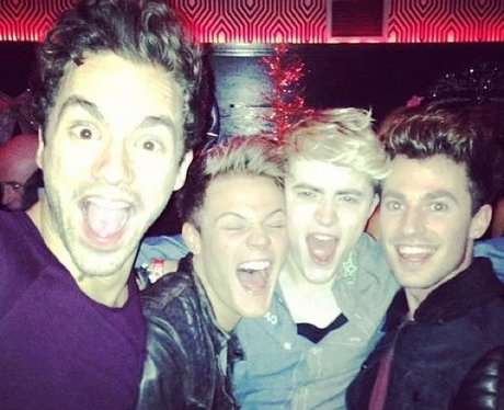 Lawson in Dublin with Jedward