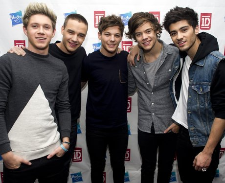 One Direction on red carpet at launch of new dolls