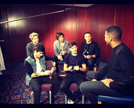 One direction being interviewed
