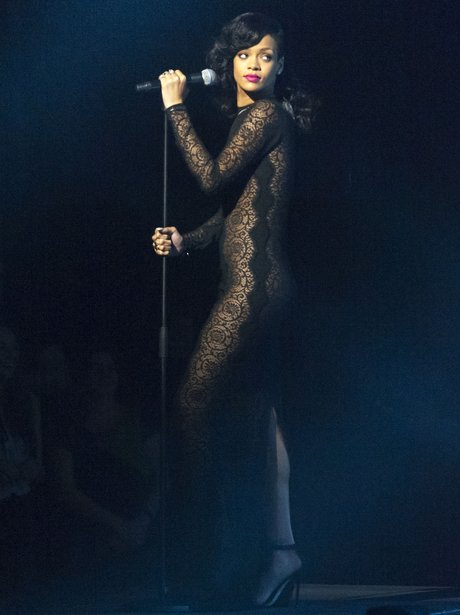 Rihanna performs on X Factor UK