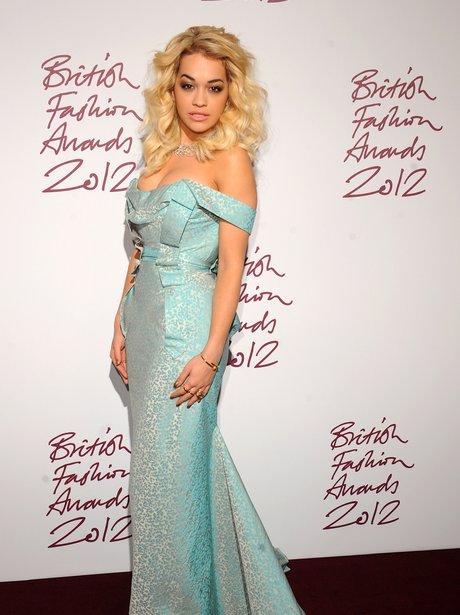 Rita Ora attends the British Fashion Council Awards