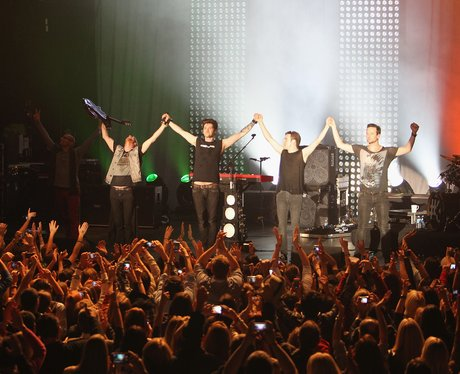 The script at Hurricane Sandy Relief Concert