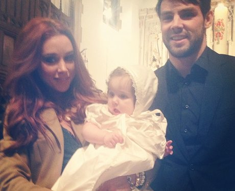 Una Healy with baby at christening