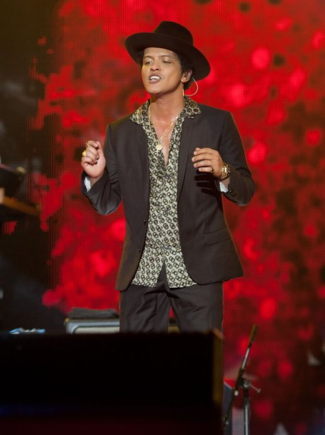 Bruno Mars at the Jingle Bell Ball 2012