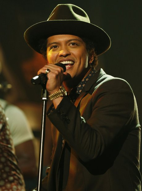 Bruno Mars performs during the filming of the Graham Norton show