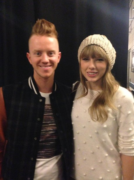 James Barr and Taylor Swift at the Jingle Bell