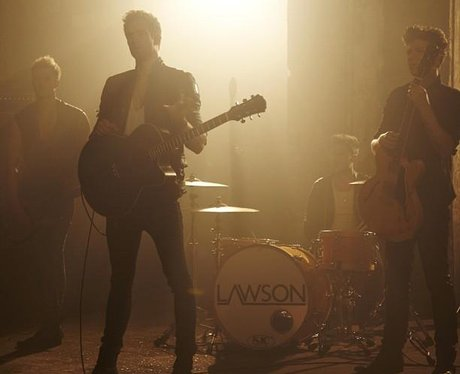 Lawson filming 'To Love Again' video