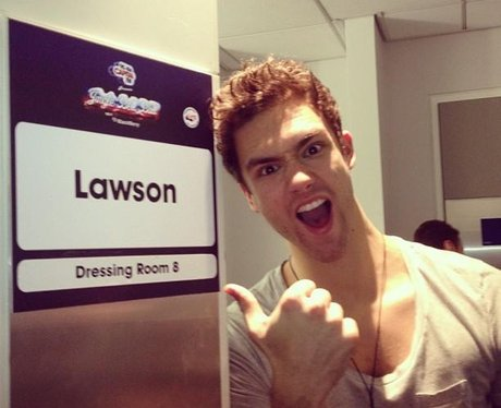 Lawson back stage at the Jingle bell ball