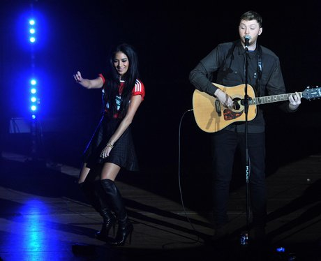 Nicole Scherzinger and James Arthur