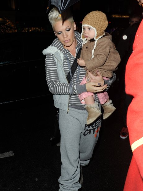 Pink and her duaghter Willow in London