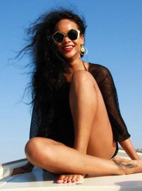 Rihanna on holiday