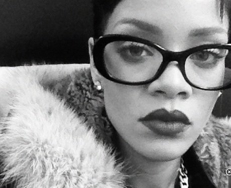 Rihanna with glasses