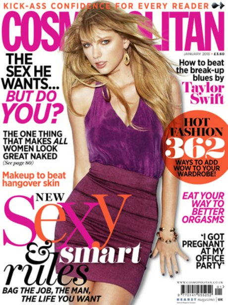 Taylor Swift in Cosmopolitan magazine