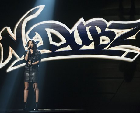 Tulisa performs on 'The X Factor Live Results Show