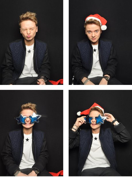 Conor Maynard in the Photo booth at the Jingle Bell Ball 2012