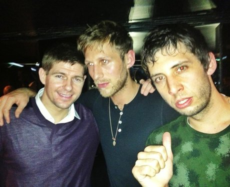 Example and Steven Gerrard on a night out