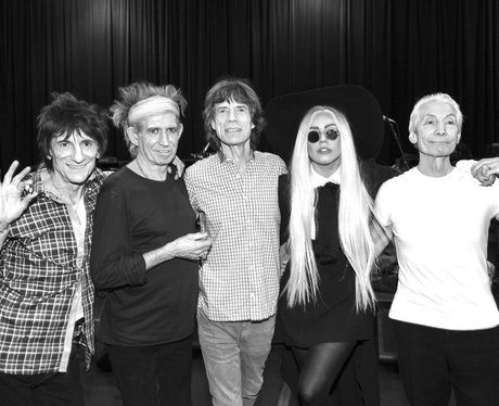 Lady gaga with the rolling stones