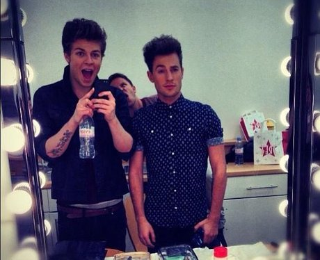 Lawson are photobombed on a shoot