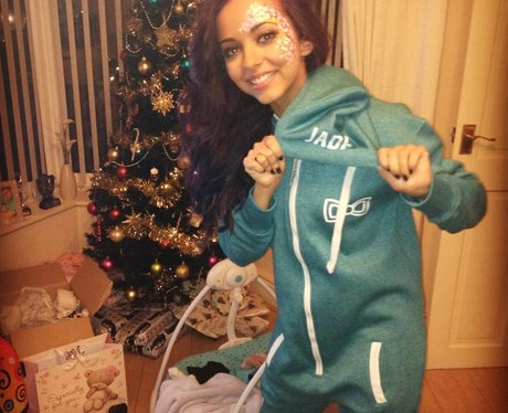 Jade from Little Mix wearing a onesie