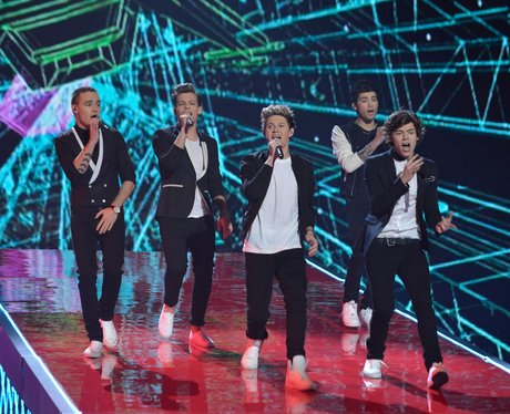One Direction perform on The X Factor UK 2012 final