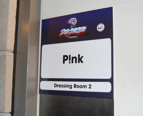 P!nk's Dressing Room At The Jingle Bell Ball 2012