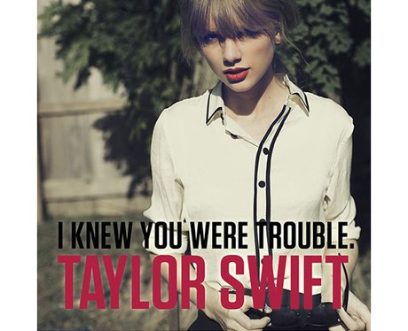 Taylor Swift's 'I Knew You Were Trouble' single artwork