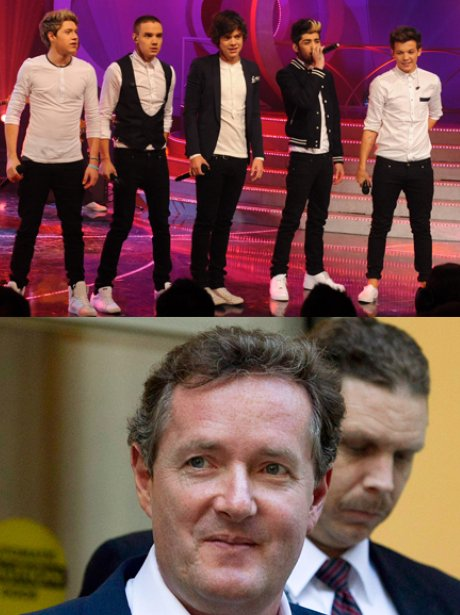 One Direction and Piers Morgan