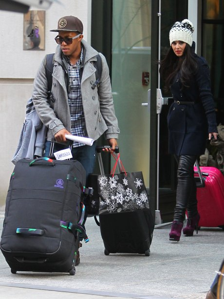 Cheryl Cole and Tre Holloway leave New York City