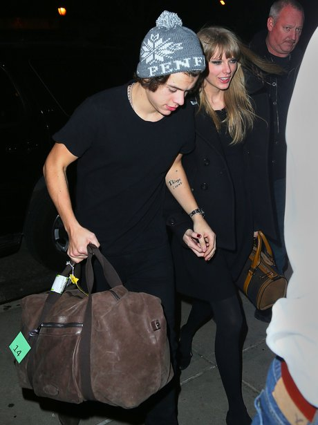 Harry Styles and Taylor Swift at their hotel in New York