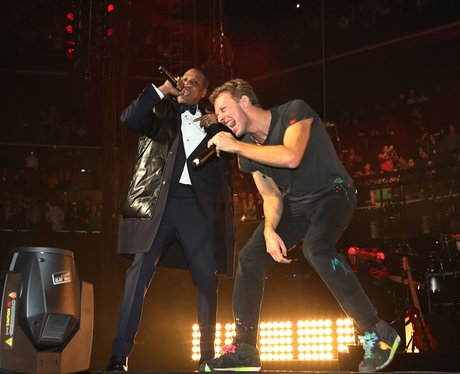 Jay-Z and Chris Martin perform in Brooklyn