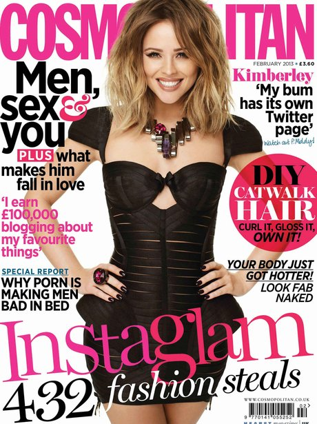 Kimberley Walsh on the cover of Cosmopolitan Magazine
