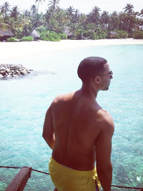 Marvin Humes on holiday