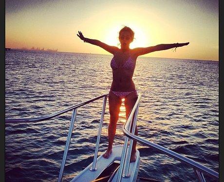 Rita Ora on a boat