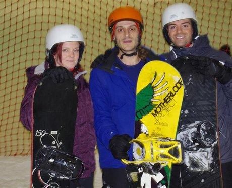 Des & Jennie Snowboarding