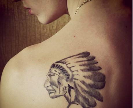 Justin Bieber's new tattoo on his shoulder