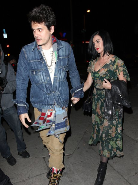 Katy Perry and John Mayer holding hands