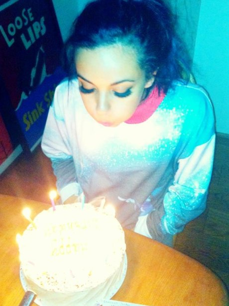 Jade Thirlwall blows out her candles