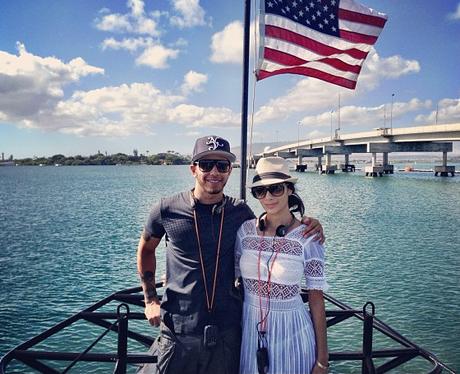 Nicole Scherzinger and Lewis Hamilton on holiday