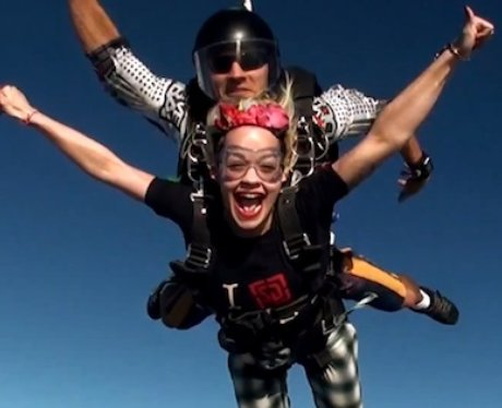 Rita Ora goes skydiving In Dubai