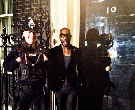 Tinie Tempah outside 10 Downing Street