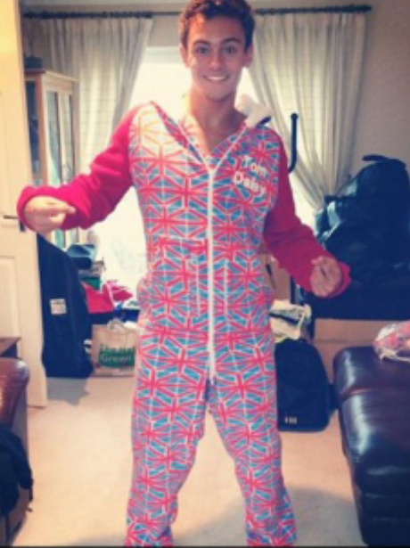 Tom Daley in a onesie