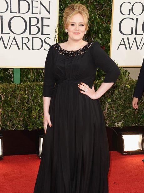 Adele at the Golden Globe Awards 2013