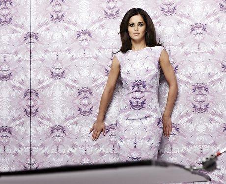 Cheryl Cole wearing wallpaper dress