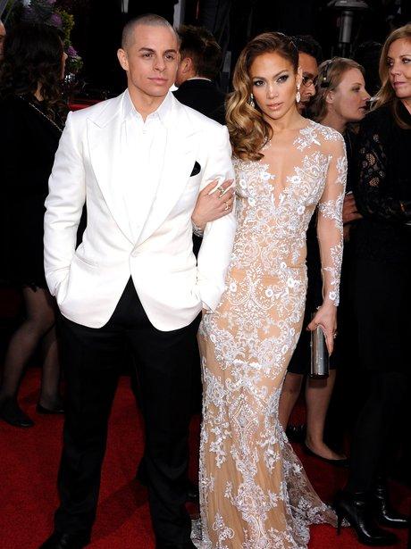 Jenifer Lopez in dress at Golden Globe Awards 2013