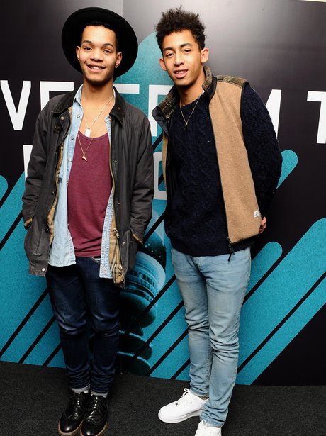 Harley Sylvester and Jordan Stephens of Rizzle Kicks peform at BT Tower